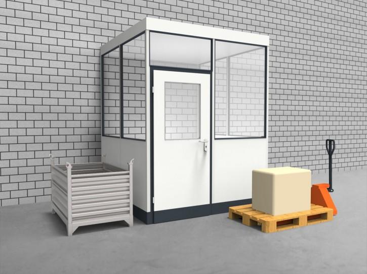 Hallenbüro 3-seitig 2,00 x 2,00 m 4 m² (HB3-2020)