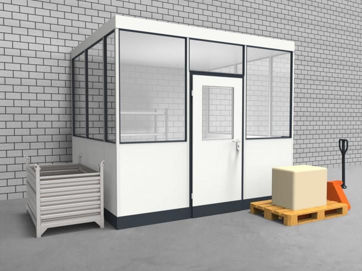 Hallenbüro 3-seitig 3,00 x 2,50 m 7,5 m² (HB3-3025)