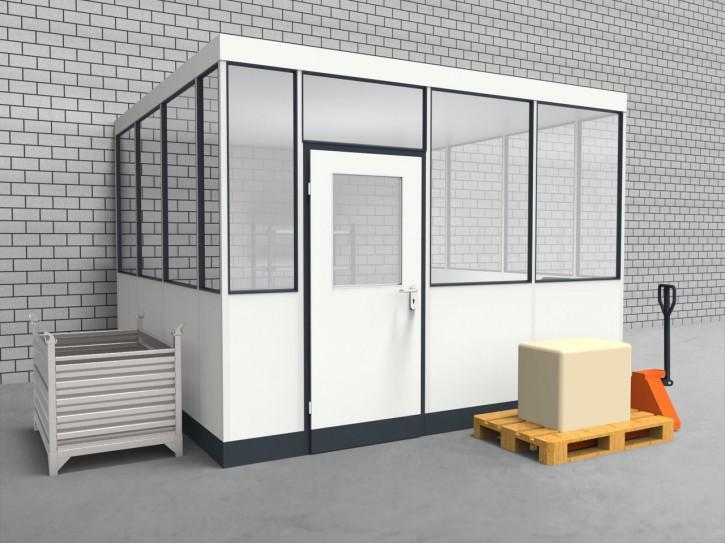 Hallenbüro 3-seitig 3,50 x 3,50 m 12,25 m² (HB3-3535)