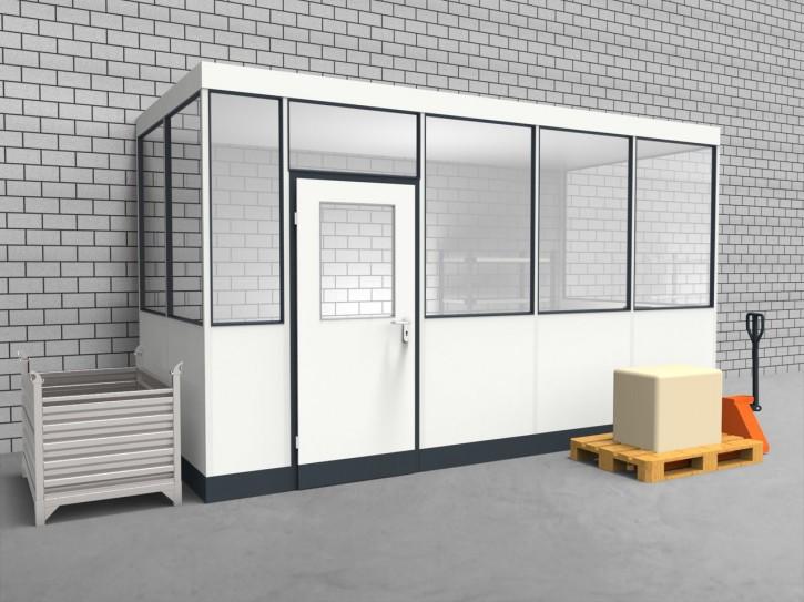 Hallenbüro 3-seitig 4,50 x 2,00 m 9 m² (HB3-4520)