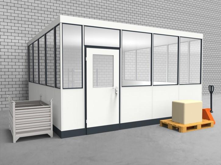 Hallenbüro 3-seitig 4,50 x 4,50 m 20,25 m² (HB3-4545)