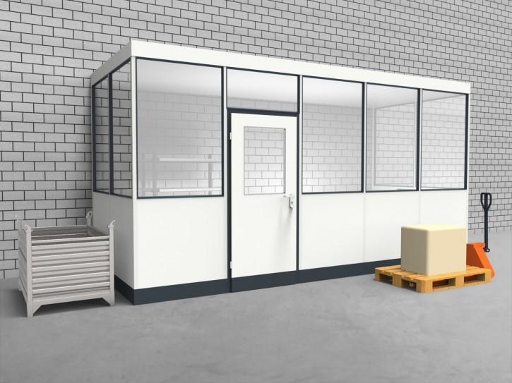 Hallenbüro 3-seitig 5,00 x 2,00 m 10 m² (HB3-5020)