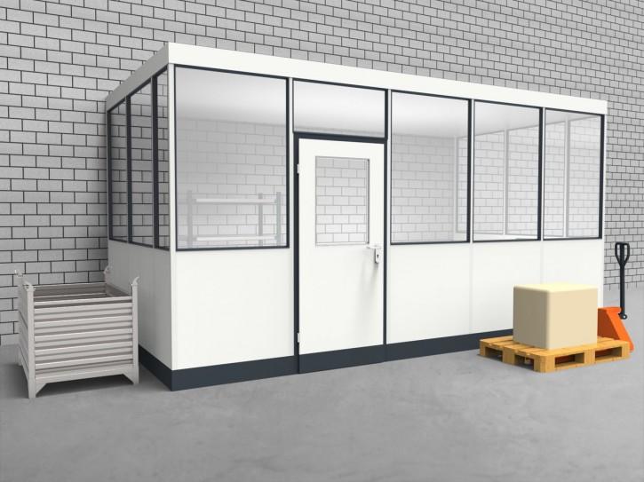 Hallenbüro 3-seitig 5,00 x 2,50 m 12,5 m² (HB3-5025)