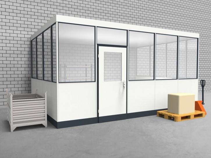 Hallenbüro 3-seitig 5,00 x 3,50 m 17,5 m² (HB3-5035)