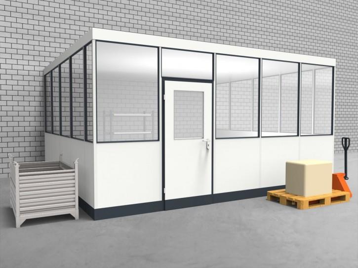 Hallenbüro 3-seitig 5,00 x 4,50 m 22,5 m² (HB3-5045)