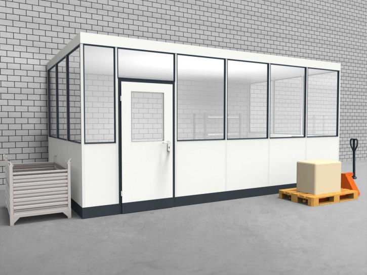 Hallenbüro 3-seitig 5,50 x 3,00 m 16,5 m² (HB3-5530)