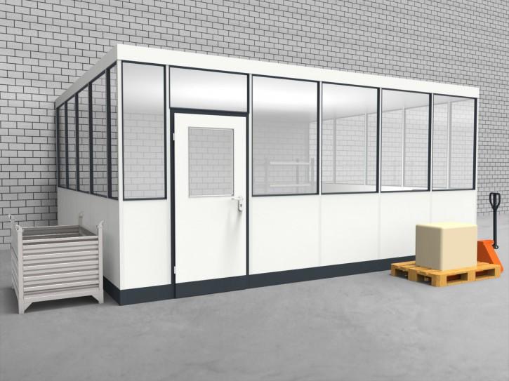 Hallenbüro 3-seitig 5,50 x 4,50 m 24,75 m² (HB3-5545)