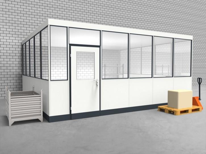 Hallenbüro 3-seitig 5,50 x 5,00 m 27,5 m² (HB3-5550)