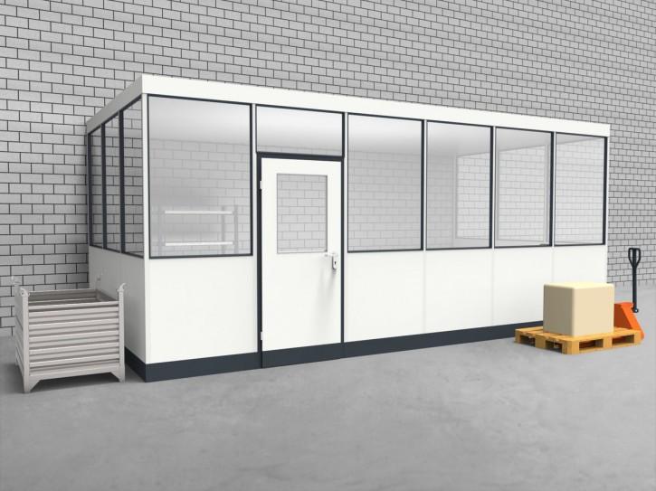 Hallenbüro 3-seitig 6,00 x 3,00 m 18 m² (HB3-6030)