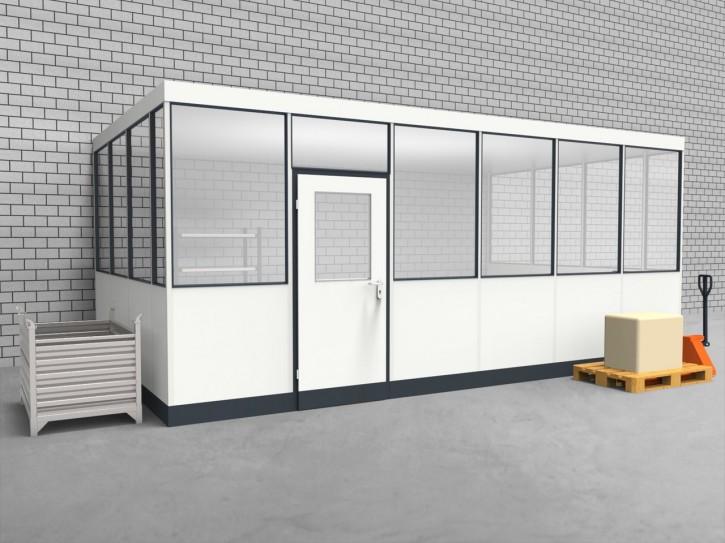 Hallenbüro 3-seitig 6,00 x 3,50 m 21 m² (HB3-6035)