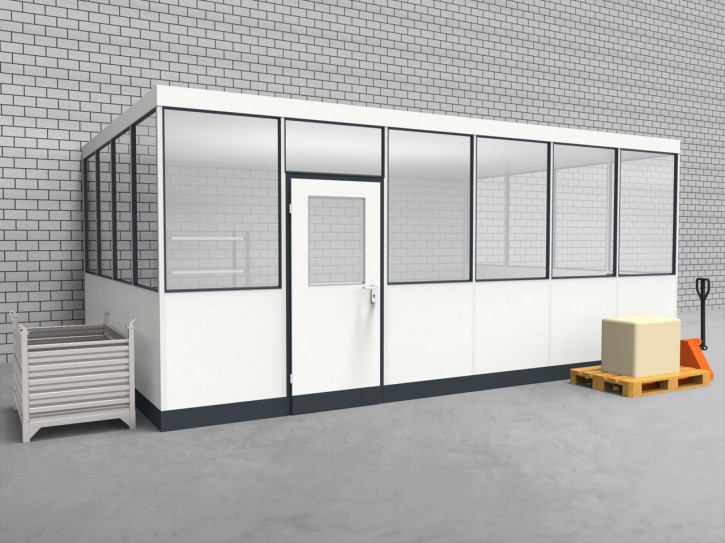 Hallenbüro 3-seitig 6,00 x 4,00 m 24 m² (HB3-6040)