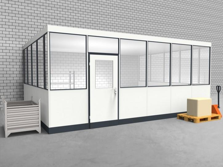 Hallenbüro 3-seitig 6,00 x 4,50 m 27 m² (HB3-6045)