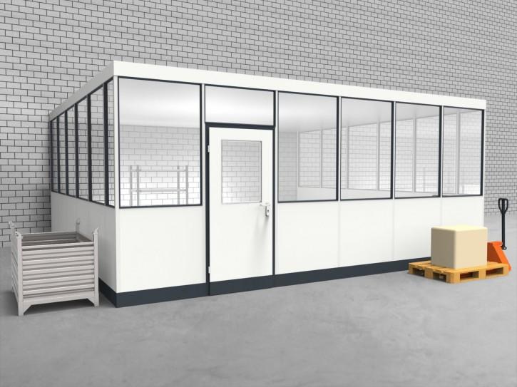 Hallenbüro 3-seitig 6,00 x 5,50 m 33 m² (HB3-6055)