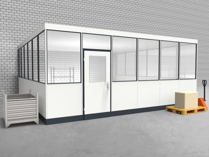 Hallenbüro 3-seitig 6,00 x 6,00 m 36 m² (HB3-6060)