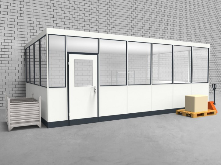Hallenbüro 3-seitig 6,50 x 4,00 m 26 m² (HB3-6540)