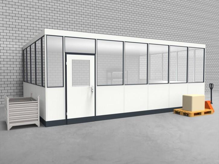 Hallenbüro 3-seitig 6,50 x 4,50 m 29,25 m² (HB3-6545)