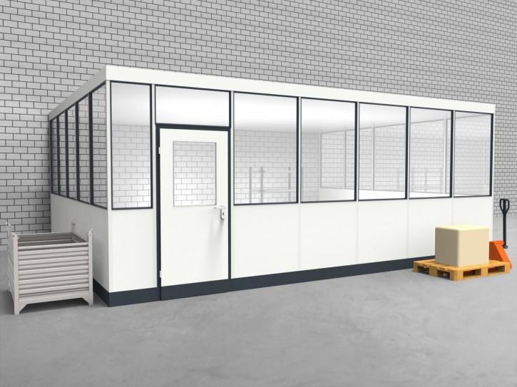 Hallenbüro 3-seitig 6,50 x 5,00 m 32,5 m² (HB3-6550)