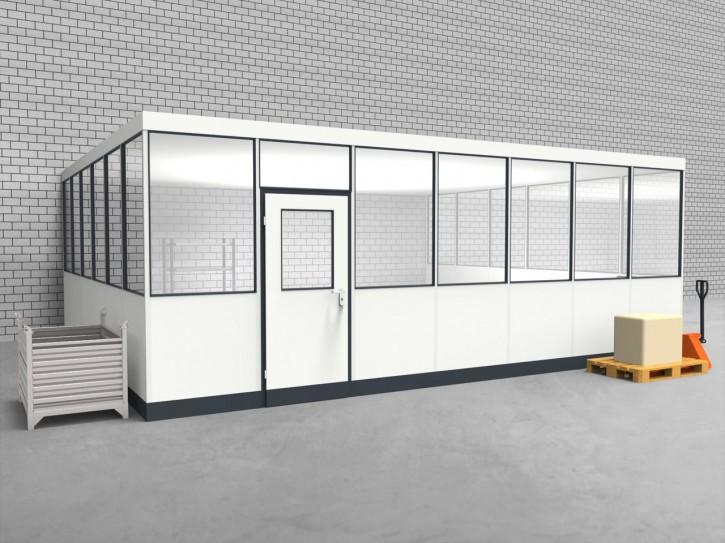 Hallenbüro 3-seitig 7,00 x 6,00 m 42 m² (HB3-7060)
