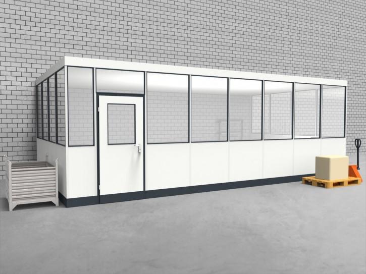 Hallenbüro 3-seitig 7,50 x 4,00 m 30 m² (HB3-7540)