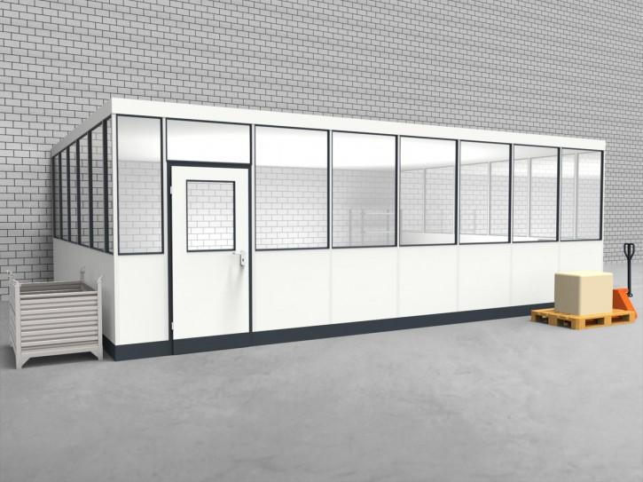 Hallenbüro 3-seitig 7,50 x 5,50 m 41,25 m² (HB3-7555)