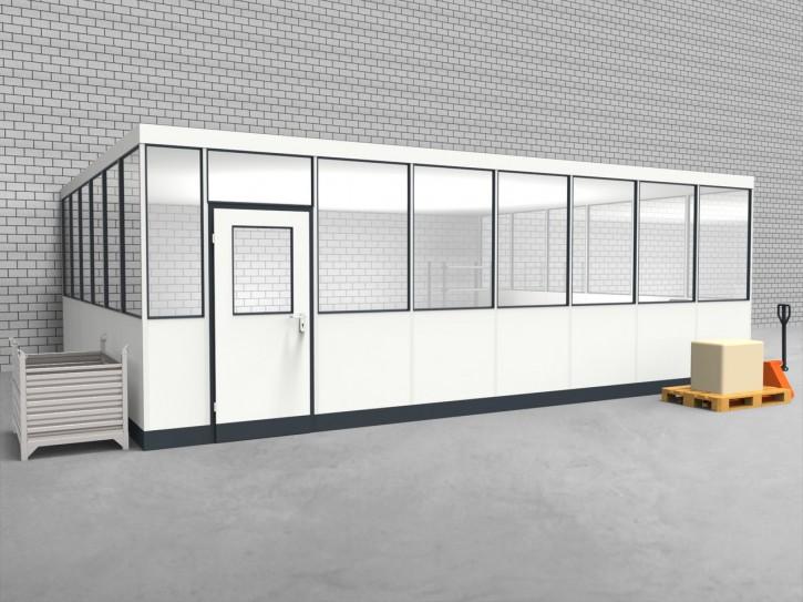 Hallenbüro 3-seitig 7,50 x 6,00 m 45 m² (HB3-7560)