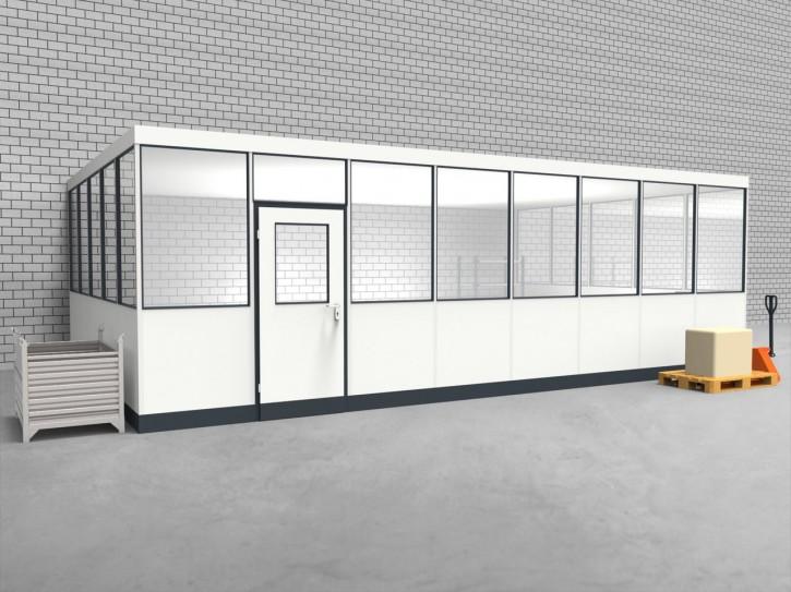 Hallenbüro 3-seitig 8,00 x 5,00 m 40 m² (HB3-8050)