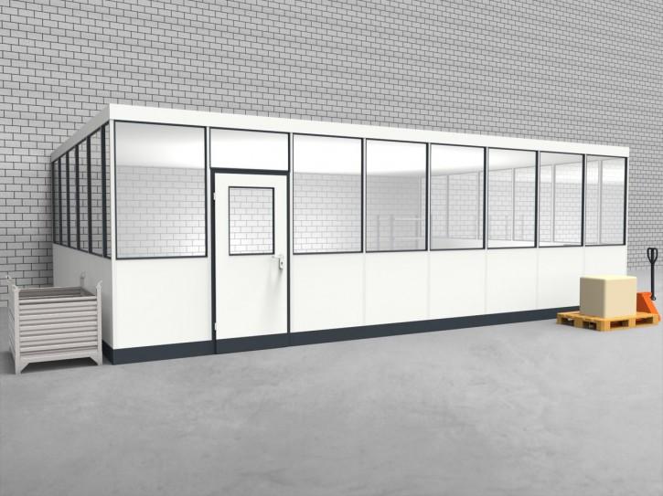 Hallenbüro 3-seitig 8,00 x 5,50 m 44 m² (HB3-8055)