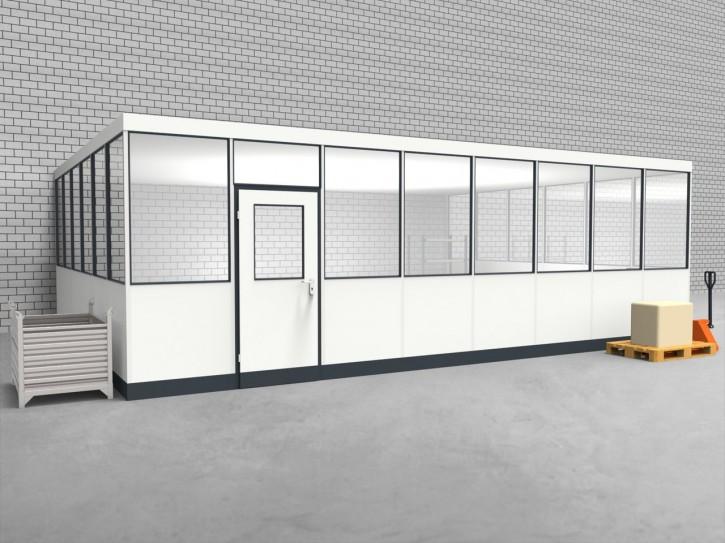 Hallenbüro 3-seitig 8,00 x 6,00 m 48 m² (HB3-8060)
