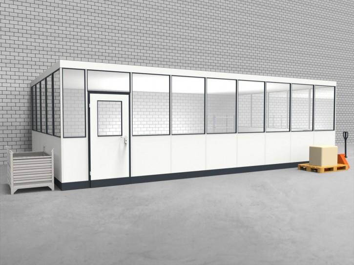 Hallenbüro 3-seitig 8,50 x 5,00 m 42,5 m² (HB3-8550)