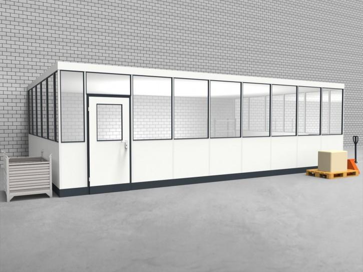 Hallenbüro 3-seitig 8,50 x 5,50 m 46,75 m² (HB3-8555)