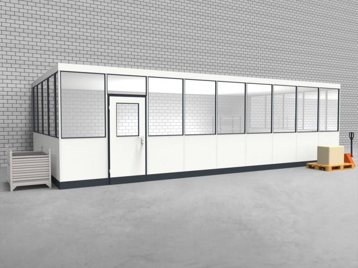 Hallenbüro 3-seitig 9,00 x 4,50 m 40,5 m² (HB3-9045)