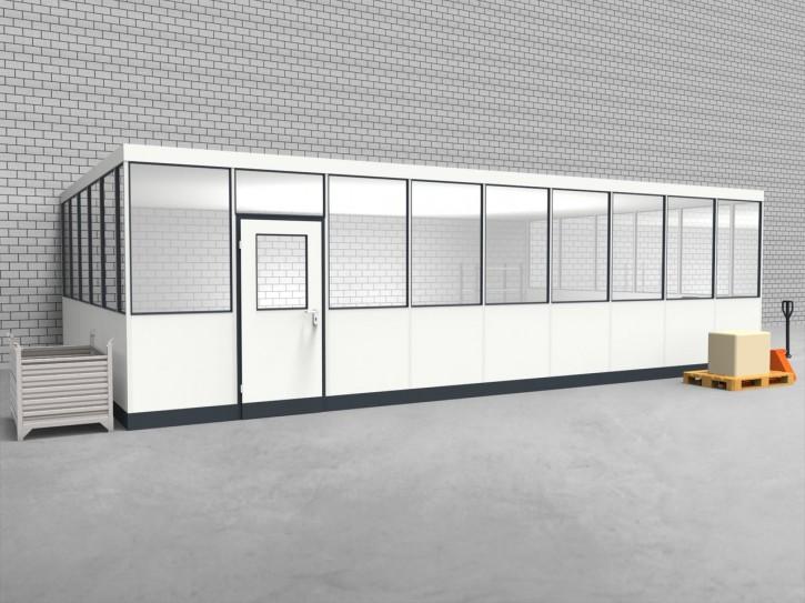 Hallenbüro 3-seitig 9,00 x 5,50 m 49,5 m² (HB3-9055)