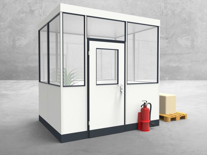 Hallenbüro 4-seitig 2,50 x 2,00 m 5 m² (HB4-2520)