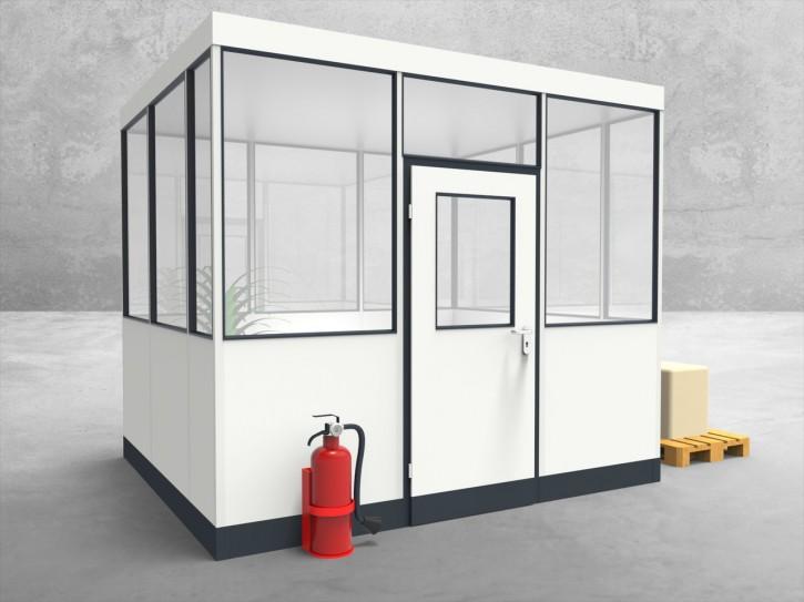 Hallenbüro 4-seitig 3,00 x 2,50 m 7,5 m² (HB4-3025)