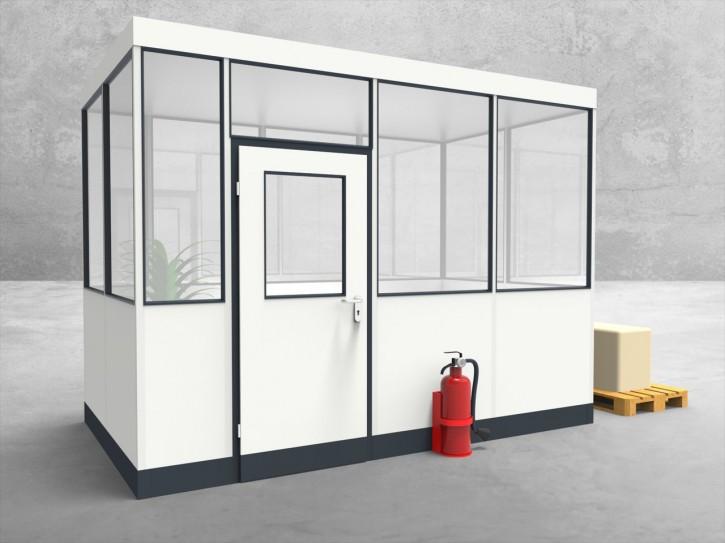 Hallenbüro 4-seitig 3,50 x 2,00 m 7 m² (HB4-3520)