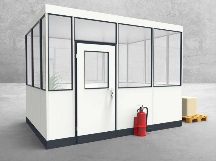Hallenbüro 4-seitig 3,50 x 2,50 m 8,75 m² (HB4-3525)