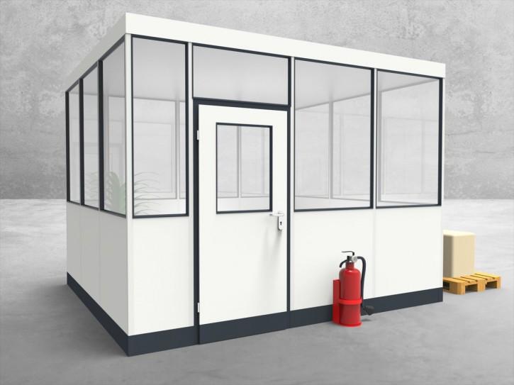 Hallenbüro 4-seitig 3,50 x 3,00 m 10,5 m² (HB4-3530)
