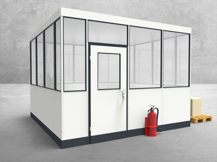 Hallenbüro 4-seitig 3,50 x 3,50 m 12,25 m² (HB4-3535)