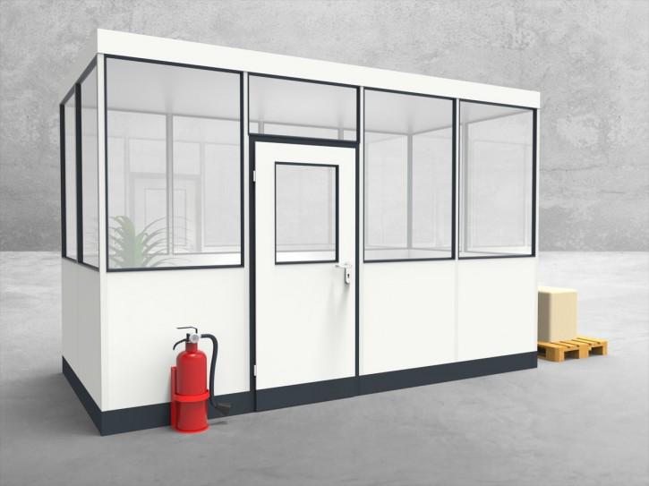 Hallenbüro 4-seitig 4,00 x 2,00 m 8 m² (HB4-4020)