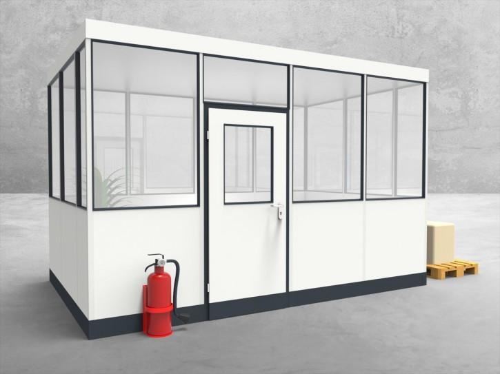 Hallenbüro 4-seitig 4,00 x 2,50 m 10 m² (HB4-4025)