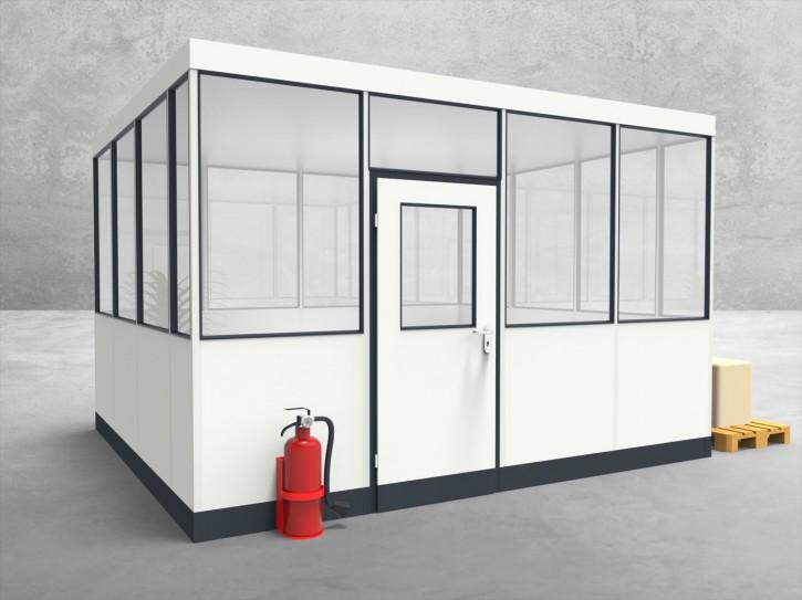 Hallenbüro 4-seitig 4,00 x 3,50 m 14 m² (HB4-4035)
