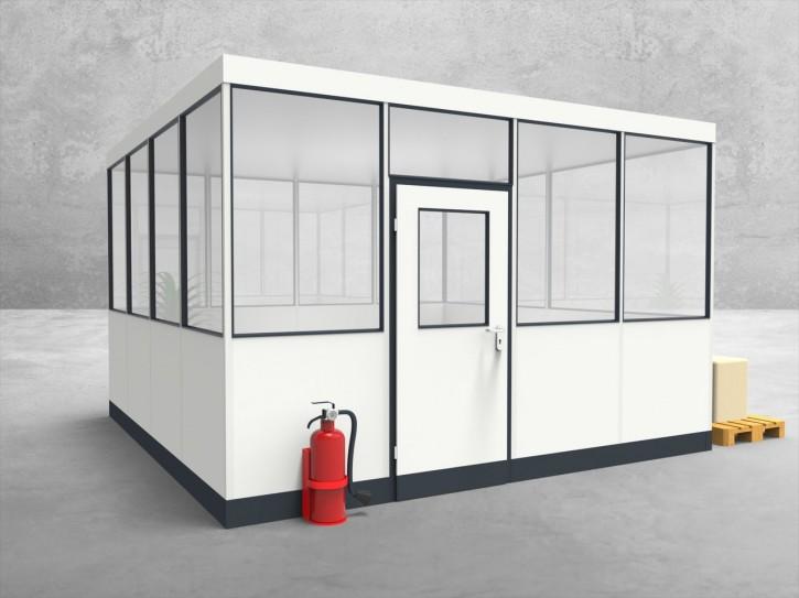 Hallenbüro 4-seitig 4,00 x 4,00 m 16 m² (HB4-4040)