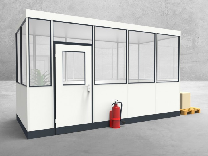 Hallenbüro 4-seitig 4,50 x 2,00 m 9 m² (HB4-4520)