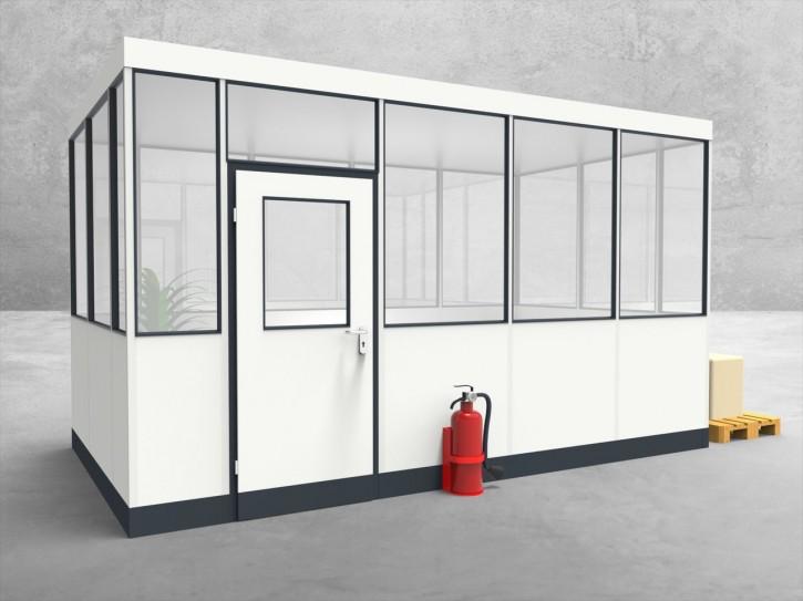 Hallenbüro 4-seitig 4,50 x 2,50 m 11,25 m² (HB4-4525)