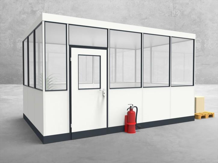 Hallenbüro 4-seitig 4,50 x 3,00 m 13,5 m² (HB4-4530)