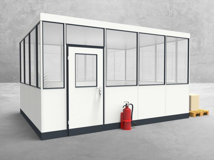 Hallenbüro 4-seitig 4,50 x 3,50 m 15,75 m² (HB4-4535)