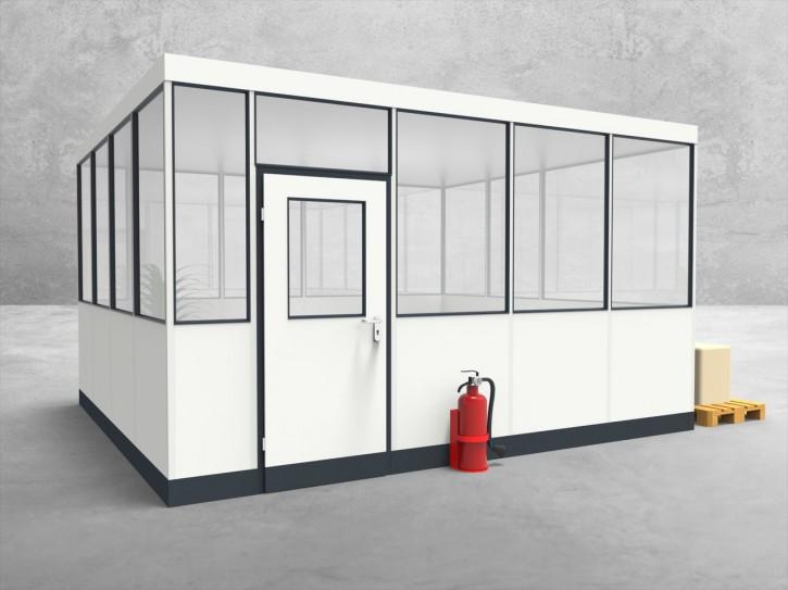 Hallenbüro 4-seitig 4,50 x 4,00 m 18 m² (HB4-4540)