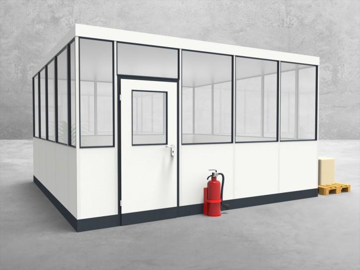 Hallenbüro 4-seitig 4,50 x 4,50 m 20,25 m² (HB4-4545)