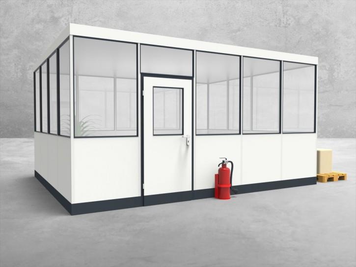 Hallenbüro 4-seitig 5,00 x 4,00 m 20 m² (HB4-5040)