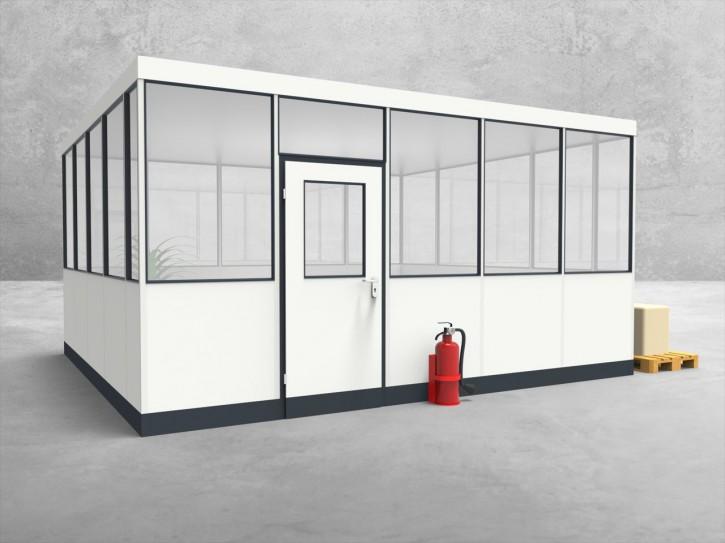 Hallenbüro 4-seitig 5,00 x 4,50 m 22,5 m² (HB4-5045)